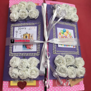 handmade birthday multifold card
